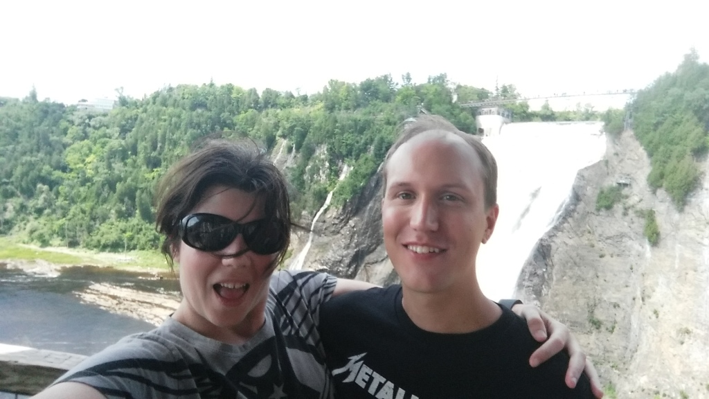 Here we are at Montmorency Falls just outside of Quebec City, Quebec, Canada in July of 2018.